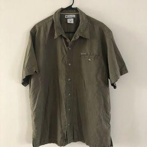 Columbia Men's Shirt Brown XL Short Sleeves